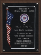 Riverside National Cemetery Memorial Honor Detail recognition plaque