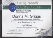 Recognition for development of City of Long Beach Senior Strategic Plan